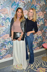 Left to right, ALEX MEYERS and PIPPA VOSPER at the launch of Matthew Williamson's 'Sea to Shore' range for The Outnet.com held at the Matthew Williamson's showroom, Studio 10-11, 135 Salusbury Road, London NW6 on 5th May 2016