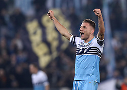 March 2, 2019 - Rome, Lazio, Italy - SS Lazio v As Roma : Serie A.Ciro Immobile of Lazio celebration at Olimpico Stadium in Rome, Italy on March 2, 2019. (Credit Image: © Matteo Ciambelli/NurPhoto via ZUMA Press)