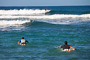 Surfers at Las Marias beach in Rincon Puerto Rico