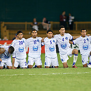 EL Salvador players look on in disbelief as panama wins the match during the penalty kick segment of the concacaf gold cup quarterfinals Sunday, June 19, 2011, at RFK Stadium in Washington DC.