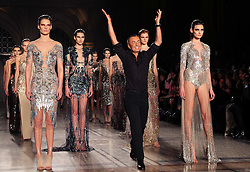 Designer Julien Macdonald at the end of his  show at London Fashion Week Autumn/Winter 2014/15 Saturday, 15th February 2014. Picture by Stephen Lock / i-Images