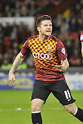 Bradford City midfielder Billy Knott celebrates Bradford City midfielder Gary Liddle scoring for bradfordduring the Sky Bet League 1 match between Sheffield Utd and Bradford City at Bramall Lane, Sheffield, England on 28 December 2015. Photo by Ian Lyall.