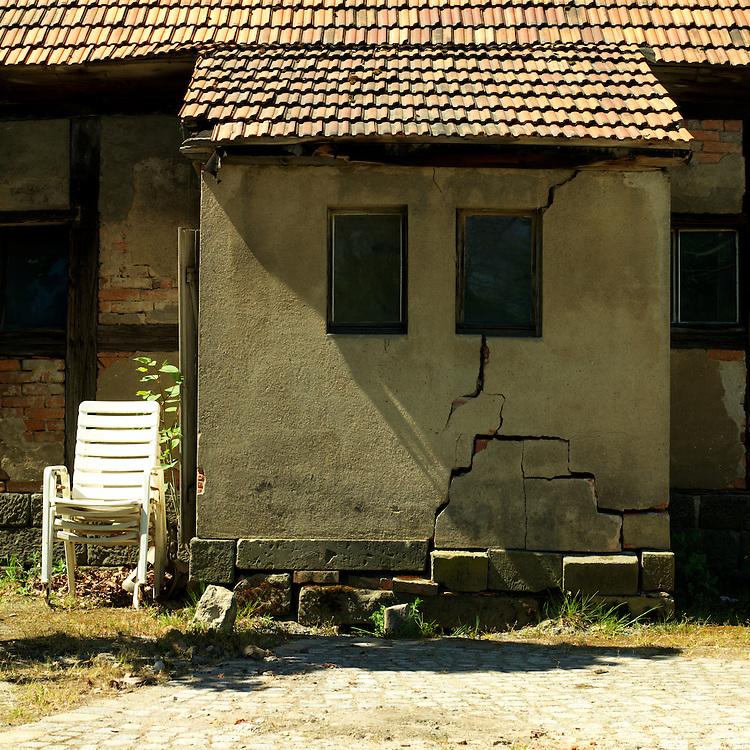Unused house in a German park.