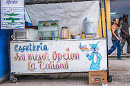 Cafe at the bus station in Holguin, Cuba.