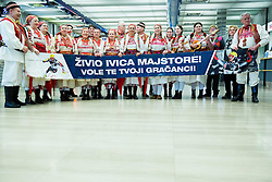 Fans from Zagreb, home town of Ivica Kostelic of Croatia, silver medallist during reception at arrival from Sochi Winter Olympic Games 2014 on February 23, 2014 in Airport Zagreb, Croatia. Photo by Vid Ponikvar / Sportida