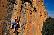 Julian Sandes, Model Release, Outdoor climbing, Grampians, Victoria, 1998. Photo: Sport the Library/PHOTOSPORT
