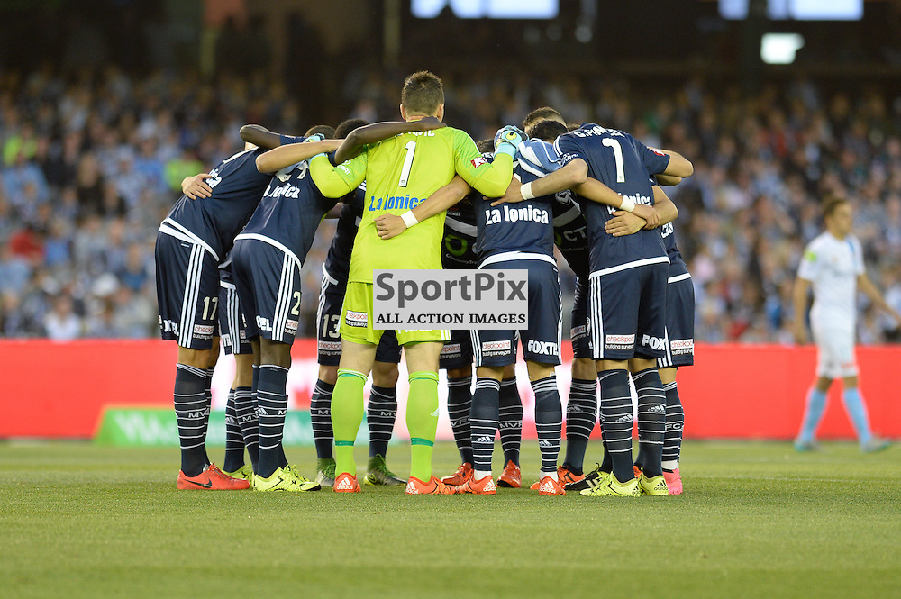 """Hyundai A-League - October 17th 2015 - ROUND 2- Melbourne Victory FC v Melbourne City FC in the first derby for the 2015 season with a 3:2 win to Victory on the 90"""" - © Mark Avellino 