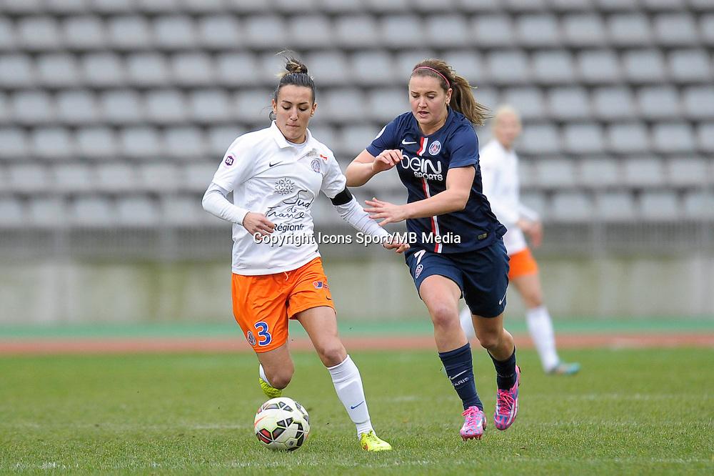 Kelly Gadea / Lindsey Horan  - 20.12.2014 - PSG / Montpellier - 14eme journee de D1<br /> Photo : Andre Ferreira / Icon Sport