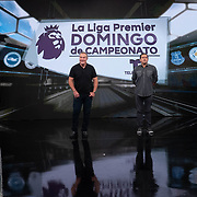 MIAMI, FL MARCH 20, 2018: Telemundo Network soccer commentator Andres Cantor, left, famous for his goal call, with co-worker Sammy Sodovnik, during rehearsals in the network's new state of the art building. He and a team of commentators were rehearsing and getting acquainted with the facilities. <br /> (Photo by Angel Valentin-For The Washington Post )