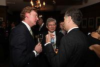 Herve? Deschamps (Perrier-Jouet), Mark Pinder and Simon Gordon (Credit Suisse)