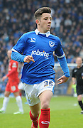 Conor Chaplin chasing down the ball during the Sky Bet League 2 match between Portsmouth and York City at Fratton Park, Portsmouth, England on 2 May 2015. Photo by Michael Hulf.