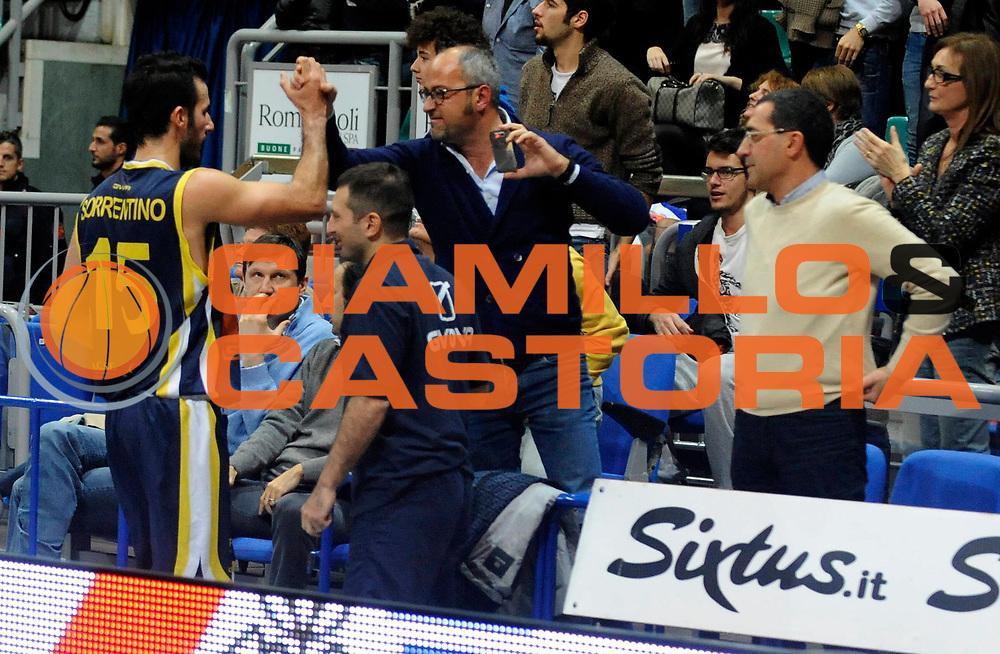 DESCRIZIONE : Bologna Lega2  2012-13 Biancoblu' Basket Bologna Givova Scafati<br /> GIOCATORE : Gennaro Sorrentino<br /> SQUADRA : Givova Scafati<br /> EVENTO : Campionato Lega2  2012-2013<br /> GARA : Biancoblu' Basket Bologna Givova Scafati<br /> DATA : 02/12/2012<br /> CATEGORIA : Esultanza<br /> SPORT : Pallacanestro<br /> AUTORE : Agenzia Ciamillo-Castoria/A.Giberti<br /> Galleria : Lega2 Basket  2012-2013<br /> Fotonotizia : Bologna Lega2  2012-13 Biancoblu' Basket Bologna Givova Scafati<br /> Predefinita :