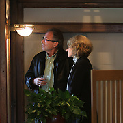 The National Park Service announced the Robie House, the 1910 masterpiece by architect Frank Lloyd Wright built in his classic Prairie Style, has been submitted to UNESCO for World Heritage nomination. Wright built the house for Frederick C. Robie on the campus of the University of Chicago in the neighborhood of Hyde Park in Chicago.  <br /> Elaine and Steve Bartolini of Toronto look out a window. <br /> Photography by Jose More