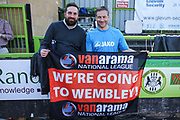 Forest Green Rovers assistant manager, Scott Lindsey and club secretary James Mooney after the match during the Vanarama National League Play Off second leg match between Forest Green Rovers and Dagenham and Redbridge at the New Lawn, Forest Green, United Kingdom on 7 May 2017. Photo by Shane Healey.