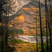 Stob na Broige from Glen Etive forest, Scotland