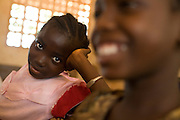 Girl during class at the Idrissa Diouf primary school in Bignona, Senegal, on Tuesday June 12, 2007.