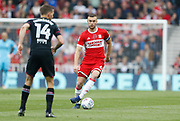 Ben Gibson of Middlesbrough during the EFL Sky Bet Championship match between Middlesbrough and Aston Villa at the Riverside Stadium, Middlesbrough, England on 12 May 2018. Picture by Paul Thompson.