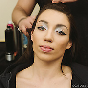 PROVIDENCE, RI - FEB 20: Kyriana Smith backstage prior to the Dylanium Knits show during StyleWeek NorthEast on February 20, 2015 in Providence, Rhode Island. (Photo by Cat Laine)