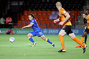 AFC Wimbledon attacker Egli Kaja (21) dribbling during the EFL Trophy match between Barnet and AFC Wimbledon at Underhill Stadium, London, England on 29 August 2017. Photo by Matthew Redman.