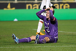 16.01.2012, Stadio Artemio Franchi, Florenz, ITA, TIM Cup, AC Florenz vs AS Rom, Viertelfinale, im Bild Delusione Stevan Jovetic Fiorentina // during the Italian TIM Cup quarterfinal match between ACF Fiorentina and AS Roma at the Artemio Franchi Stadium, Florence, Italy on 2013/01/16. EXPA Pictures © 2013, PhotoCredit: EXPA/ Insidefoto/ Paolo Nucci..***** ATTENTION - for AUT, SLO, CRO, SRB, BIH and SWE only *****