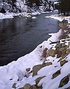 River, Rapids, Winter, Snow, Salmon River, North Fork, Idaho