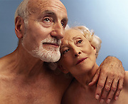 Portrait of a Mature Couple in Love<br />