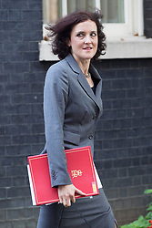 © licensed to London News Pictures. London, UK 08/10/2013. Theresa Villiers, Secretary of State for Northern Ireland attending to a cabinet meeting in Downing Street on Tuesday, 8 October 2013. Photo credit: Tolga Akmen/LNP