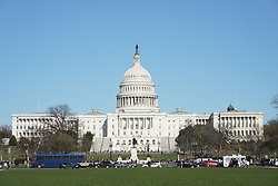 A general view of the Capitol Building in Washington DC in the United States. From a series of travel photos in the United States. Photo date: Friday, March 30, 2018. Photo credit should read: Richard Gray/EMPICS