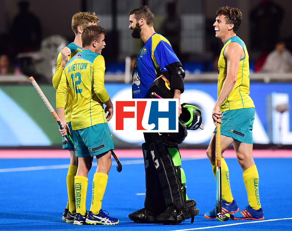 Odisha Men's Hockey World League Final Bhubaneswar 2017<br /> Match id:20<br /> Australia v Germany<br /> Foto: Australia wins the Semi Final against Germany.<br /> keeper Tristan Clemons (Aus) <br /> COPYRIGHT WORLDSPORTPICS FRANK UIJLENBROEK