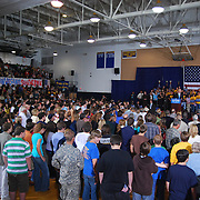 Delaware Senator / Democratic Vice Presidential Nominee Joe Biden speaks at his rally at South Lake High School in St. Clair Shores, MI.