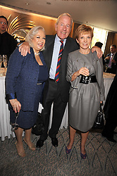 Left to right, JANE FRY, NEIL DURDEN-SMITH and ANNE ROBINSON at a tribute lunch in honour of Michael Aspel hosted by The Lady Taverners at The Dorchester, Park Lane, London on 14th November 2008.