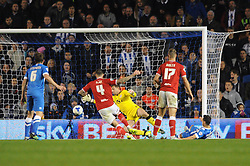 Sam Baldock of Brighton & Hove Albion scores to make it 1-1 - Mandatory byline: Dougie Allward/JMP - 07966 386802 - 20/10/2015 - FOOTBALL - American Express Community Stadium - Brighton, England - Brighton v Bristol City - Sky Bet Championship