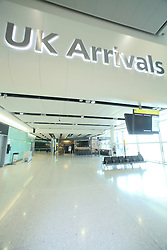 UK  airport arrivals hall at airport