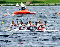 Kajakk<br /> EM 2005 <br /> Poznan 30.07.2005<br /> Foto: Wrofoto/Digitalsport<br /> NORWAY ONLY<br /> <br /> K4 1000 MEN <br /> MATTIS NÆSS - JACOB NORENBERG - ERIK VERÅS LARSEN - NILS OLAV FJELDHEIM