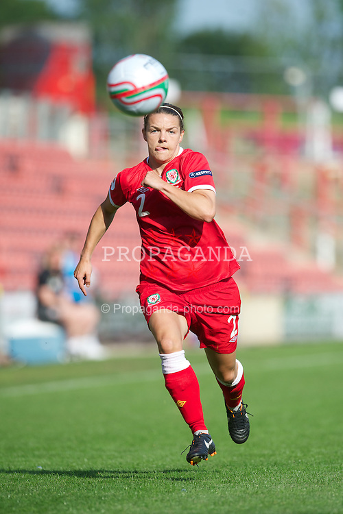 WREXHAM, WALES - Wednesday, June 20, 2012: Wales' Loren Dykes in action against Israel during the UEFA Women's Euro 2013 Qualifying Group 4 match at the Racecourse Ground. (Pic by David Rawcliffe/Propaganda)