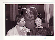 Danny Moynihan; Joanna Price. Kasmin's 50th. Lindy Dufferin's house, Holland Park. 1984.