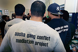 Aasha gang conflict mediation project; Osmani Community Centre; Tower Hamlets; East London,  Aasha aims to de-glamorise the gang culture and prevent gang conflict by using an extensive community network in Tower Hamlets to provide mediation and engage young people in diversionary activities, UK