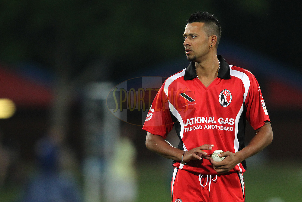 Rayad Emrit of Trinidad & Tobago during the 4th Qualifying match of the Karbonn Smart CLT20 South Africa between Trinidad & Tobago and Uva Next held at Supersport Park Stadium in Centurion, South Africa on the 10th October 2012..Photo by Shaun Roy/SPORTZPICS/CLT20