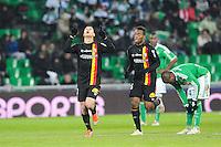 Joie Yoann Touzghar - 06.02.2015 - Saint Etienne / Lens - 24eme journee de Ligue 1 -<br />Photo : Jean Paul Thomas / Icon Sport