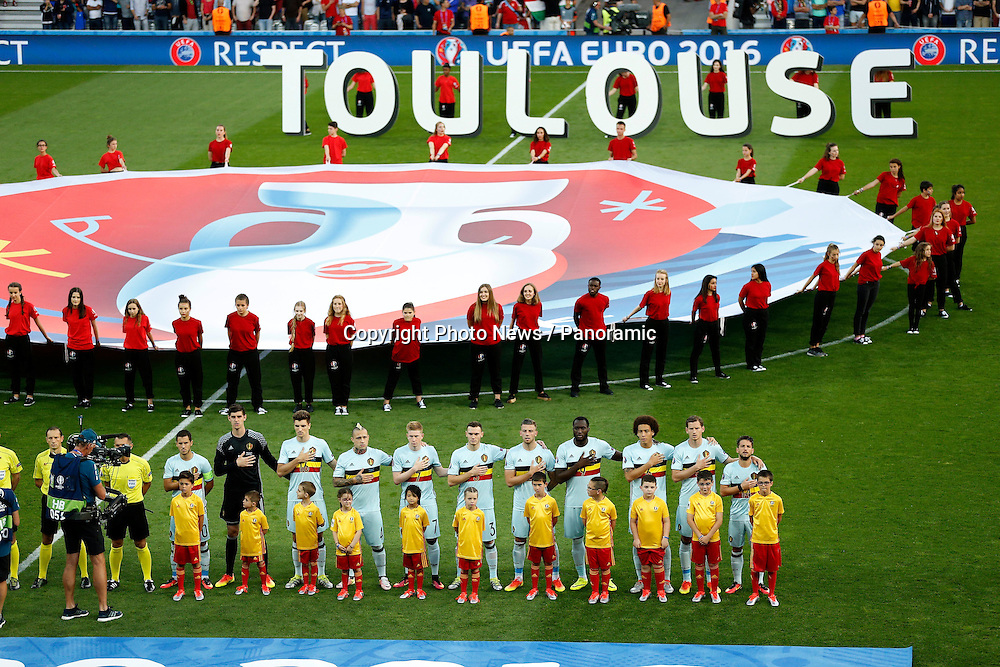 TOULOUSE, FRANCE - JUNE 26 : team of Belgium