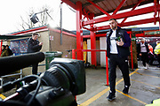 Derby County defender Richard Keogh (6)  arrives at the stadium during the The FA Cup fourth round match between Accrington Stanley and Derby County at the Fraser Eagle Stadium, Accrington, England on 26 January 2019.