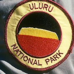 Park Ranger's arm patch. Uluru NP, (Ayer's Rock) Northern Territories AUSTRALIA