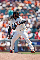 SAN FRANCISCO, CA - JUNE 26: Johnny Cueto #47 of the San Francisco Giants pitches against the Philadelphia Phillies during the first inning at AT&T Park on June 26, 2016 in San Francisco, California.  (Photo by Jason O. Watson/Getty Images) *** Local Caption *** Johnny Cueto