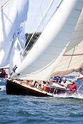 Kestrel sailing in the Museum of Yachting Classic Yacht Regatta.