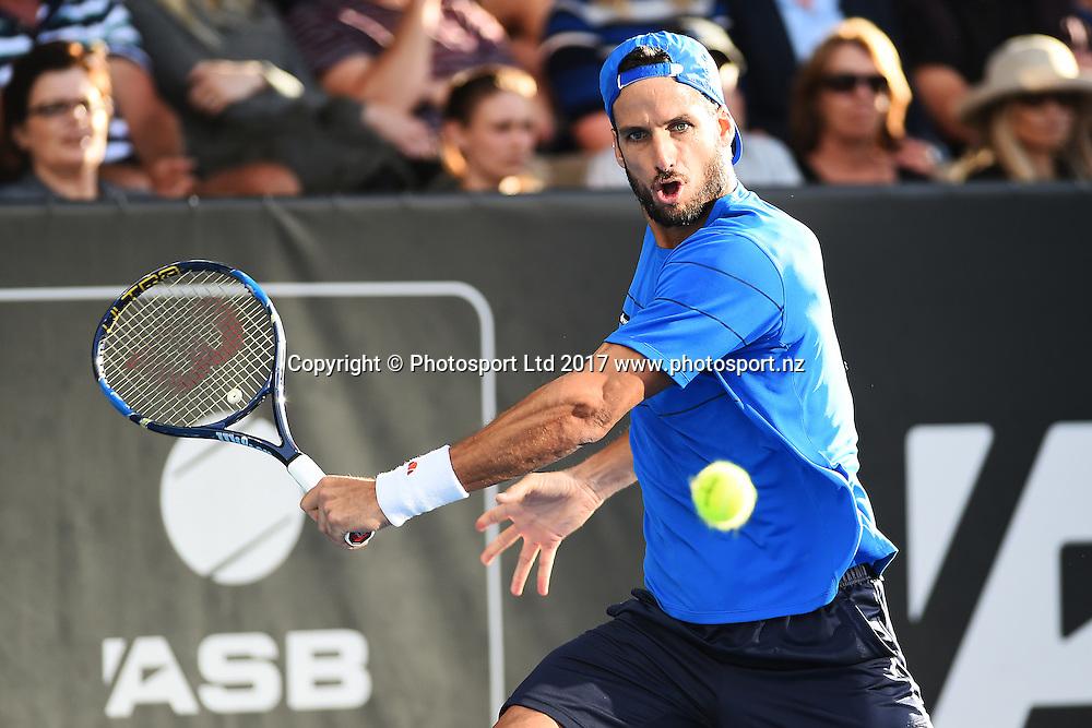 Feliciano Lopez during the ASB Classic ATP Mens Tournament Day 1. ASB Tennis Centre, Auckland, New Zealand. Monday 9 January 2017. ©Copyright Photo: Chris Symes / www.photosport.nz