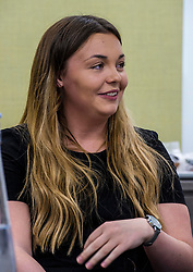 Pictured: Kate Eltringham<br />  <br /> Minister for Employability and Training Jamie Hepburn visited Ernst and Young (EY) in Edinburgh today (15 May) to comment on the latest Labour Market statistics.  While there Mr Hepburn met apprentices Ruairidh Kilgour and Kate Eltringham, Laura Sleigh and Emma Jones, EY Recruitment and Margaret Gibson, OBE, EY Foundatio Scotland Hub Leader.<br /> <br /> Ger Harley | Edinburgh Elite Media
