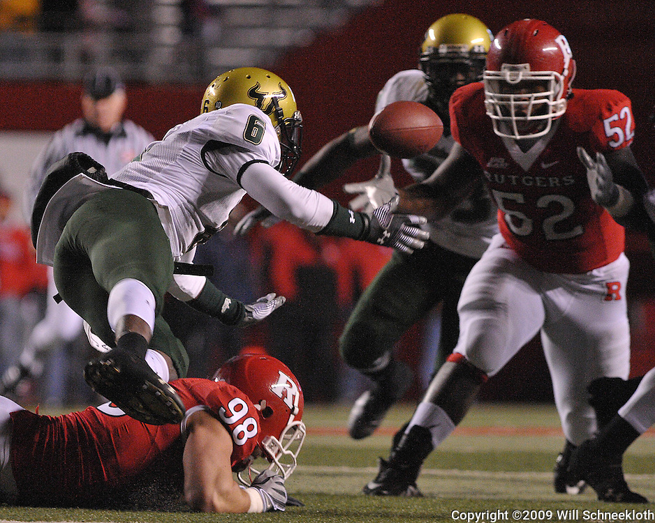 Nov 12, 2009; Piscataway, NJ, USA; during second half NCAA Big East football action in Rutgers' 31-0 victory over South Florida at  Rutgers Stadium.