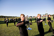 The Oregon Marching Band competes in the final performance in Suttons Bay, Michigan on July 9, 2010.