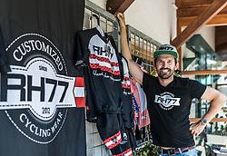 02.07.2016, Kitzbühler Horn, Kitzbühel, AUT, Ö-Tour, Österreich Radrundfahrt, Prolog, Bergzeitfahren, im Bild RH 77, Rene Haselbacher // RH 77, Rene Haselbacher during the Tour of Austria, Prolog, mountain time trial at Kitzbühler Horn in Kitzbühel, Austria on 2016/07/02. EXPA Pictures © 2016, PhotoCredit: EXPA/ JFK