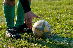 Ball during rugby match between Slovenia and Andorra for European Nations Cup 2010-12, Group 2B, on November 12, 2011 at Igrisce Oval, Stanezice, Ljubljana, Slovenia. (Photo By Matic Klansek Velej / Sportida)